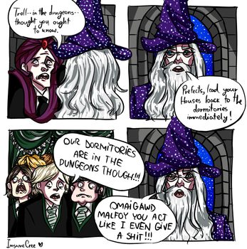 Harry Potter: TROLL IN THE DUNGEONS by HalfAssPrince