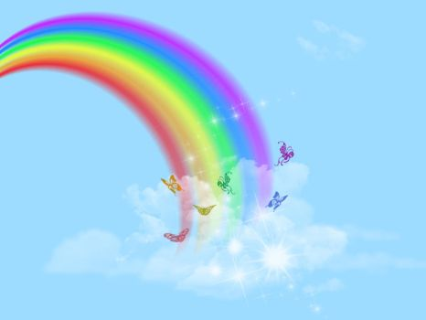 Rainbow Background stock 2 by SimplyBackgrounds