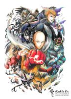 One Punch Against The World (One Punch Man OPM) by Rachta