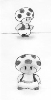 Mi dibujo de Toad - My cartoon of Toad by fernando-eguia-mx