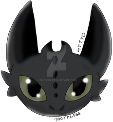 Request: Toothless - HTTYD by Inkcess