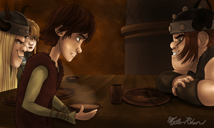 Hiccup and the Soup Bowl 5 by masterrohan