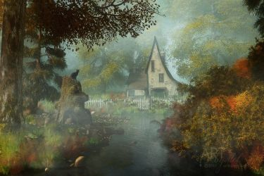 The House in the Glade by Art-By-Mel-DA
