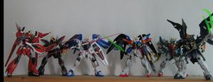 Gundam Model Kits Wing vs Seed by Deadman0087