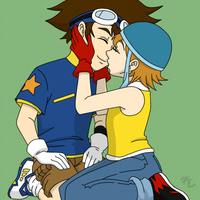 Digimon - Tai x Sora by Poefish