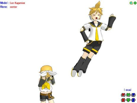 Len... What in the world are you doing..? by AxyllXIII