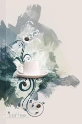 Coffee Canvas Wallpaper by kuschelirmel