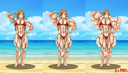 Commission - Orihime at the beach 1 by MATL