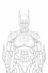 Process of Batman: Batsuit by Rodrigo-Sanches-A