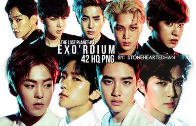 The Lost Planet #3: EXO'rDIUM Png Pack by StoneHeartedHan