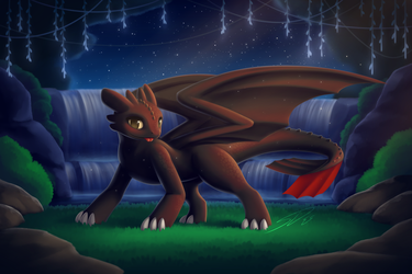 Toothless's Corner in the Woods by streetdragon95