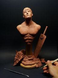 A Moment of Solitude, my sculpture of Guts by Graphesium