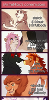 Commission prices 2018 (updated) by Mistrel-Fox