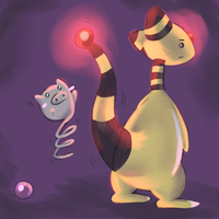 Ampharos and spoink by cartoonboyplz
