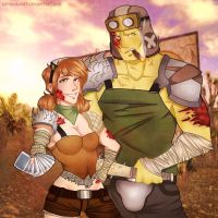 Fallout: Kaite and Lennie(trade) by SatiricalKat