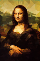 Mona Lisa Polygon Art by Hand with texture. by trandoductin