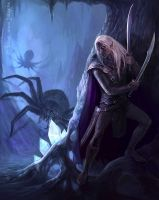 In the Cave - Drizzt Do'Urden by Julaxart