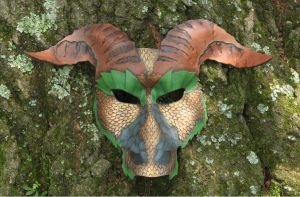 Greater Earth Dragon Leather Mask by SilverCicada