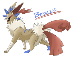 Eeveeloution: Fighting-Type Brawleon by Galefaux
