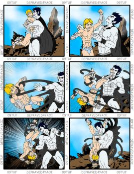 Hades vs Hermes - page 1 - Commission #059 by 09tuf