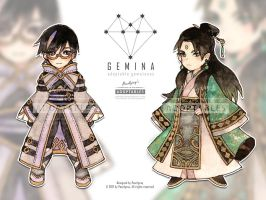 Adoptable 11 - G E M I N A : Set 1 [CLOSED] by Pearlgraygallery