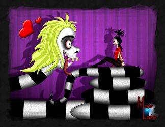 Beetlejuice and Lydia by Master Lurker by vladen13