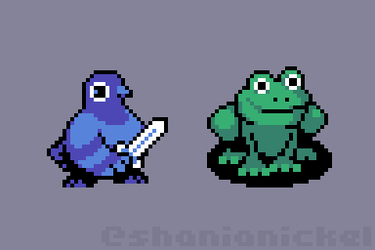 battle pigeon and battle toad by alinaphobic