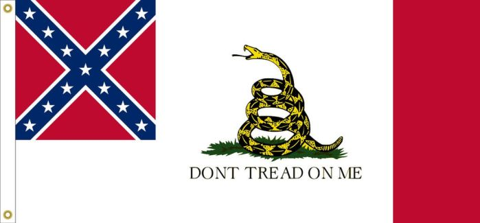 C.S.A. 3RD National Flag 'DONT TREAD ON ME' Design by StephenBarlow
