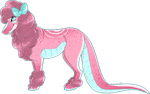 Pink CrocPoodle by Pinky-Poodle