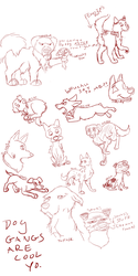 Concrete Pawsteps Sketchdump by Essansee