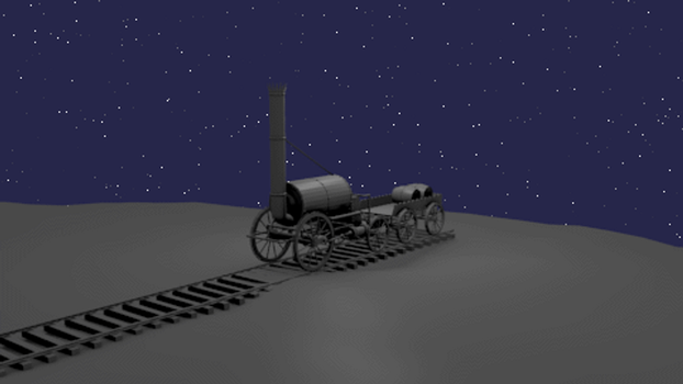 Blender: Rocket Steam Locomotive GIF by Izzi1313