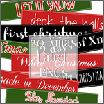 XMAS: 20 Xmas Label PNGs by chazzief