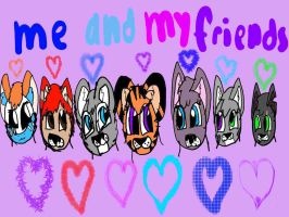 me and my friends by dragonmoorearts