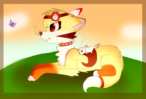 Adorable dawn~Neonfire(oc wolf) by neonlights008