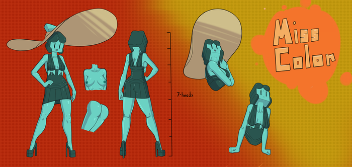 Miss Color Character Sheet by QuietStealth