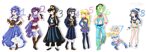 Genderbend Jojo's by Diamond-waterfalls