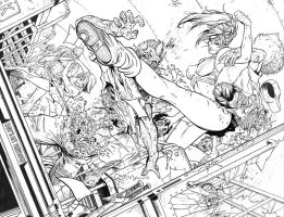 Cheerleaders Vs. Zombies - DeBalfo - Egli - Inks by SurfTiki