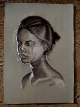 sadness(charcoal drawing) by mathio91