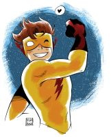 Kid Flash color by gravetown