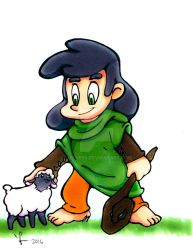 The little shepherd boy by Jesness