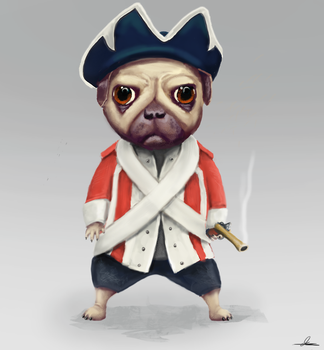 Ye Sailor Pug by DarrenMyners
