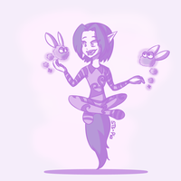 Huevember # 23 - Ly the Fairy by STS-PiaEsaya