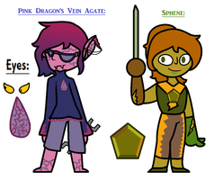 Static Gems 5 Dragon's Vein Agate and Sphene by TheUltimateMagikarp