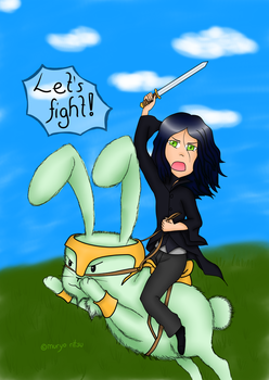 Ride a bunny into battle? Hell yes! by MuryoRitsu