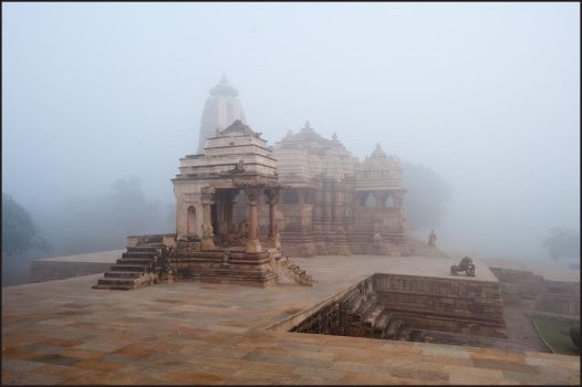 Foggy Morning in Khajuraho by IgorLaptev