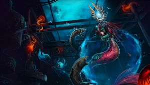 League Of Legends: Nami and Fizz by xSheepi