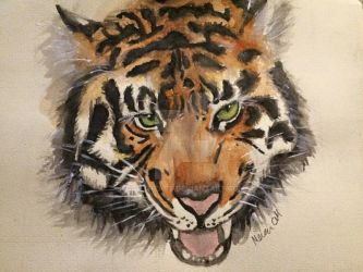 Watercolour Tiger by Gottheart
