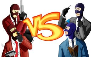 Red vs Blue spies by Unirizz