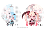 ADOPT - Halloween Demon Girls - [ C l o s e ] by Hiika-chii