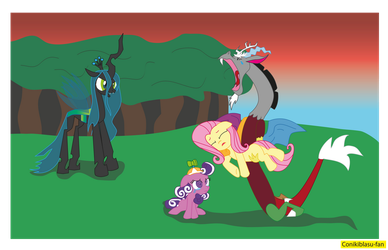 the suffering of Discord and Screwball by CoNiKiBlaSu-fan